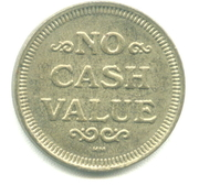 Token - No Cash Value (Rays or Lines; 22.8 mm) – obverse