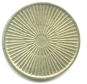 Token - No Cash Value (Rays or Lines; 22.8 mm) – reverse