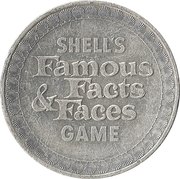Token - Shell's Famous Facts and Faces Game (The Telephone) – reverse