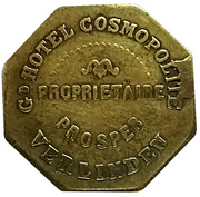 20 Centimes - Gd Hotel Cosmopolite (Verlinden) – obverse