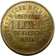 1 Liter of Flesch Melk - Hilversumsche Melkinrichting – obverse