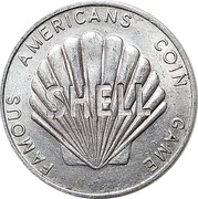"""Token - Shell Famous Americans Coin Game (Lewis and Clark; error """"Clarke"""") – reverse"""