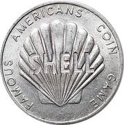 Token - Shell Famous Americans Coin Game (Albert Einstein) – reverse