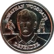 Token - Official England Squad 2004 (Jonathan Woodgate) – obverse