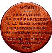 Token - Lyon (Démolition du mur d'enceinte de la Croix Rousse 1865) – reverse