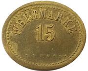 15 Pfennig (Werth-Marke) – obverse
