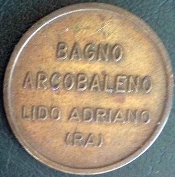 Bagno arcobaleno beach token tokens numista - Bagno corallo lido adriano ...