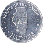 Token - Shell's States of the Union Coin Game, Version 1 (Illinois) – obverse
