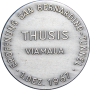 Medallion - Initiation of the San Bernardino Tunnel – reverse