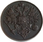 Token - Alexander II (fantasy coronation ruble 1856) – reverse