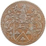 Token - Jean-Baptiste Larchier (trésorier de Bruxelles; Mariage de l'infante) – obverse