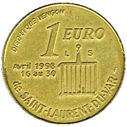 1 Euro (Saint-Laurent-du-Var) – obverse