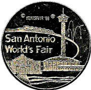 Token - San Antonio World's Fair – obverse
