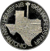 Token - San Antonio World's Fair – reverse