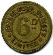 6 Pence - Gwynfi CSL (Glamorgan, Wales) – reverse