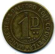 1 Penny - Manchester & Salford Equit CSL (Lancashire) – obverse