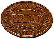 Bread Token - Northampton CSL (Northamptonshire) – reverse