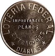 Token - Federal Lottery (20 Réis) – obverse