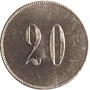 Token - Federal Lottery (20 Réis) – reverse