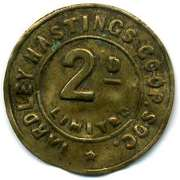 2 Pence - Yardley Hastings CSL (Northamtonshire) – obverse