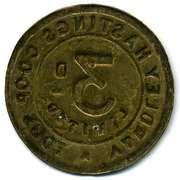 3 Pence - Yardley Hastings CSL (Northamptonshire) – reverse