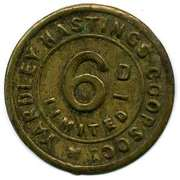 6 Pence - Yardley Hastings CSL (Northamptonshire) – obverse