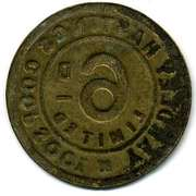 6 Pence - Yardley Hastings CSL (Northamptonshire) – reverse