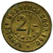 2 Shillings - Yardley Hastings CSL (Northamptonshire) – obverse