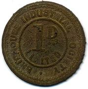 1 Penny - Brighouse Ind SL (Yorkshire) – reverse