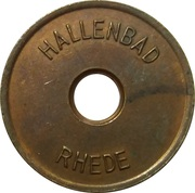 Public swimming pool token - Rhede (adult) – obverse