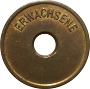 Public swimming pool token - Rhede (adult) – reverse