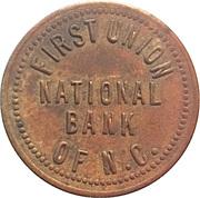 Parking Token - First Union National Bank (Lenoir, North Carolina) – obverse