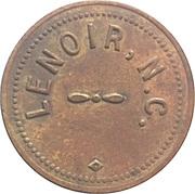 Parking Token - First Union National Bank (Lenoir, North Carolina) – reverse