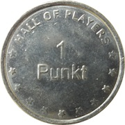1 Punkt - Hall of players – obverse