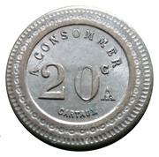 20 Centimes - A. Bernard (Lille) – reverse