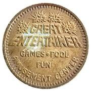 25 Cents - Great Entertainer Amusement Center – obverse