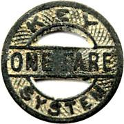 1 Fare - Key System (Oakland, California) – obverse