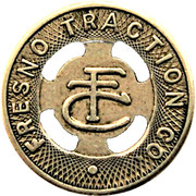 1 Fare - Fresno Traction Co. (Fresno, California) – obverse