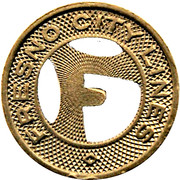 1 Fare - Fresno City Line (Fresno, California) – obverse