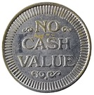 Token - No Cash Value (Clown; 22.9 mm) – reverse