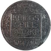 Kriegsspielmarke (von Hindenburg) – reverse