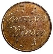 Token - Georgia Music – obverse
