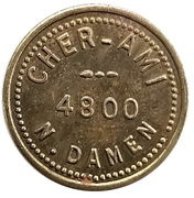 5 Cents - Cher - Ami (Chicago, Illinois) – obverse