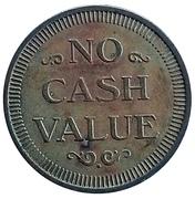 Token - No Cash Value (Spacecraft) – reverse