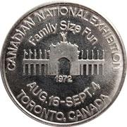 Token - Canadian National Exhibition 1972 (Toronto) – obverse