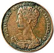 Medal - Wilhelmina (Inauguration) – obverse