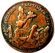 Medal - Wilhelmina (Inauguration) – reverse