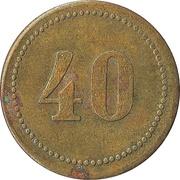 40 Centimes – obverse