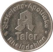 Taler - St. Helena Apotheke (Rheindahlen) – reverse