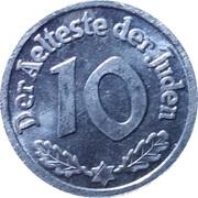 10 Pfennig (Lodz Ghetto; Replica) – reverse